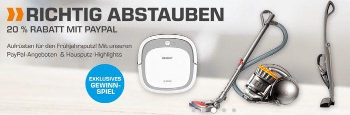 Letzte Möglichkeit! Saturn: Haushaltsgeräte   20% PayPal Rabatt  z.B. Ecovacs Deebot Slim 2 Saugroboter für 119€ (statt 171€)