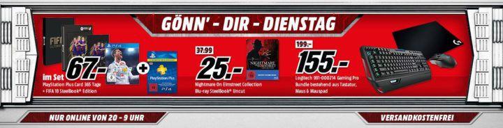 PlayStation Plus Card 12 Monate + FIFA 18 SteelBook Edition statt 80€ für 67€ uvm. im Media Markt Dienstag Sale