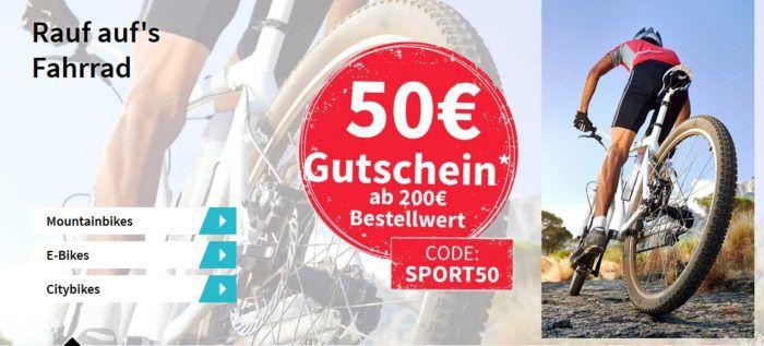 PlentyOne mit 50€ Rabatt auf alles ab 200€   günstige Sportartikel wie Fahräder etc.