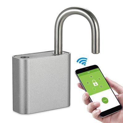 Vorhängeschloss mit Bluetooth, Fingerabdruck & App Steuerung für 18,25€
