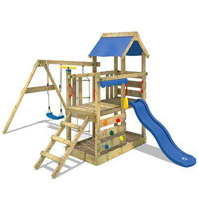 WICKEY TurboFlyer   Spielturm mit Schaukel, Sandkasten & Rutsche für 323,95€ (statt 400€)
