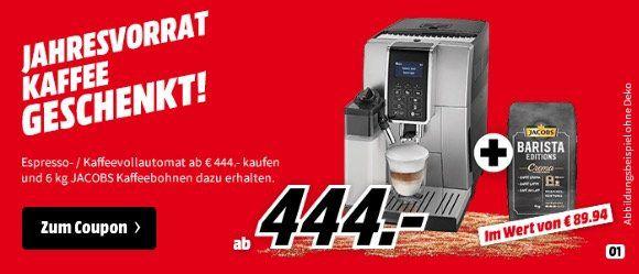 DeLonghi ECAM 350.55.B Dinamica Kaffeevollautomat ab 444€ + 6kg Jacobs Bohnen gratis