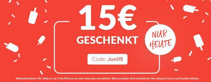 15€ Ubup Gutschein (60€ MBW)   günstige Second Hand Fashion