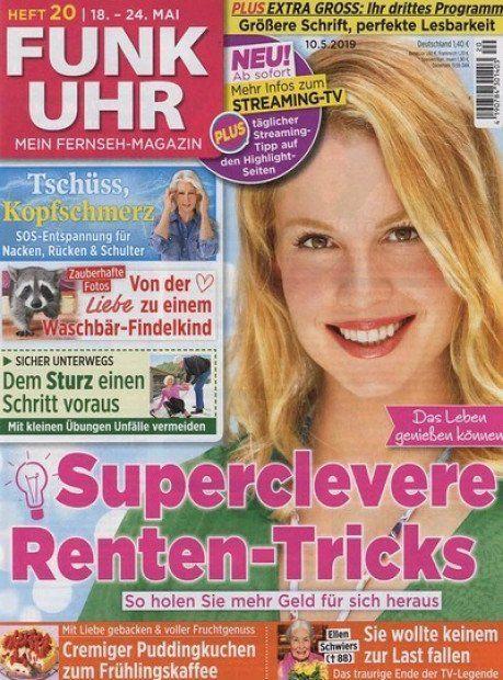 52 Ausgaben Funk Uhr TV Magazin für 72,80€ + 55€ Verrechnungsscheck