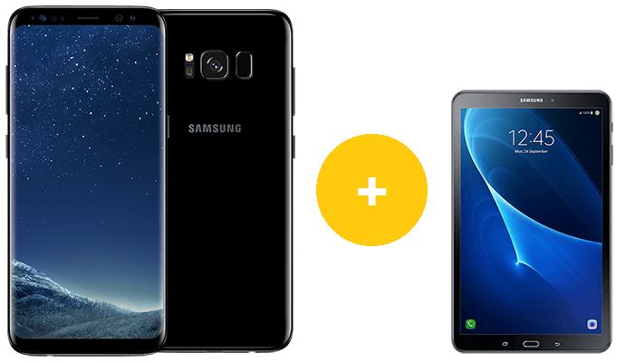 Samsung Galaxy S8 + Tab A 10.1 WiFi für 149€ + o2 Allnet XL 2017 mit 4 GB LTE für 19,99€ mtl.
