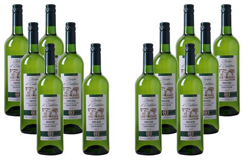 12er Paket Baron dEmblème   Sauvignon Blanc   Pays dOc IGP für 39,96€