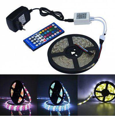 Jiawen 5m RGBW LED Streifen mit Fernbedienung & Netzteil für 10,34€