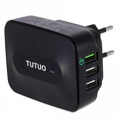 TUTUO QC   028P Qualcomm Certified Quick Charge 3.0 Adapter für 7,34€ (statt 11€)