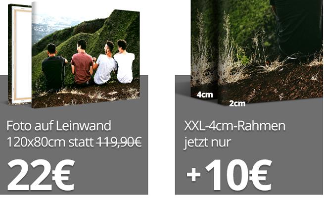 XXL Foto auf Leinwand für 28,90€ + XXL Rahmen für 10€