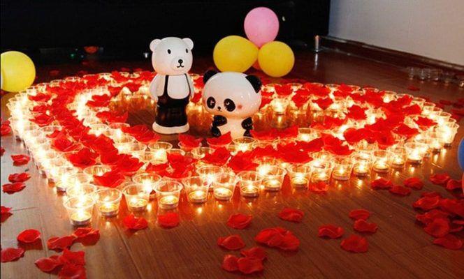 50 rauchfreie rote Kerzen für Liebeserklärungen für 5,07€