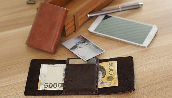 Kreditkartenetui aus Echtleder für 2,90€