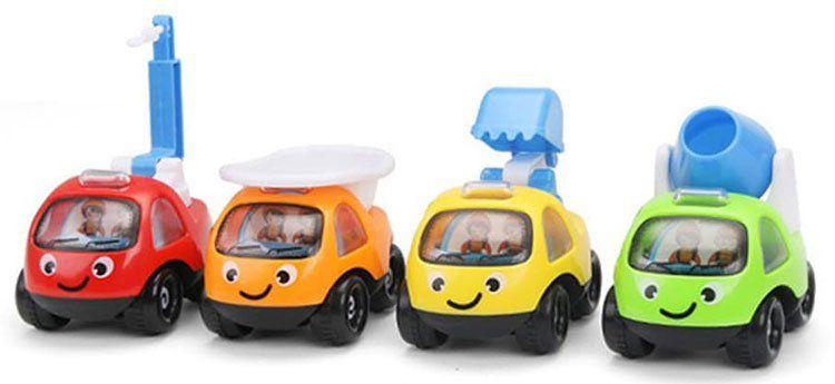 4 Baustellenfahrzeuge als Spielzeug für 2,07€