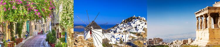 Griechenland Rundreise (10 ÜN) mit Frühstück, Transfers, Fährtickets + Flüge ab 679€ p.P.