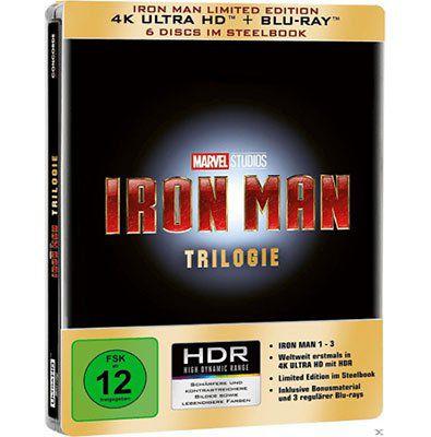 Iron Man   Trilogie (4K Ultra HD) Steelbook für 44,99€ (statt 66€)