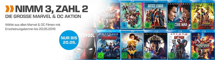 Nimm 3, zahl 2   die große Marvel & DC Aktion