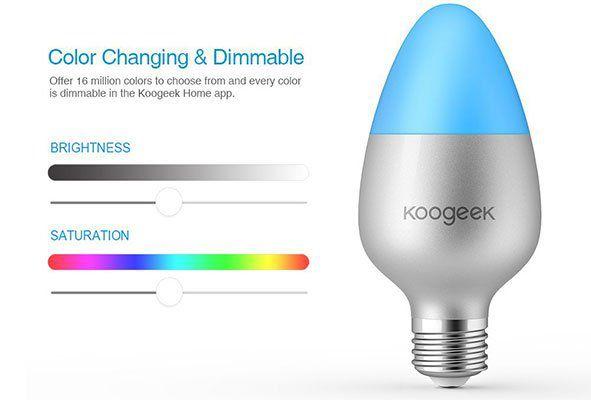 Koogeek LED RGB Glühbirne mit App Steuerung für 16,11€ (statt 26€)