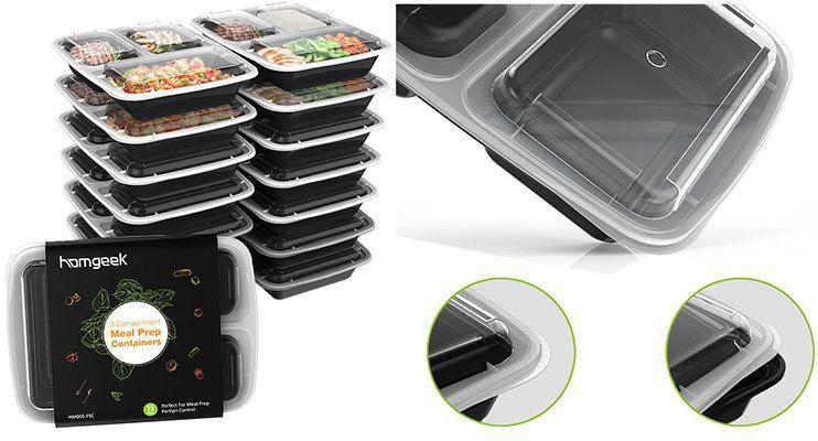 15 Lunchboxen für Meal Prep für 13,76€ (statt 20€)