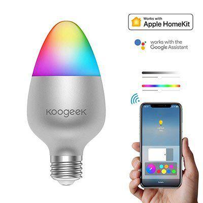 Koogeek LED RGB Glühbirne mit App Steuerung für 20,99€ (statt 35€)