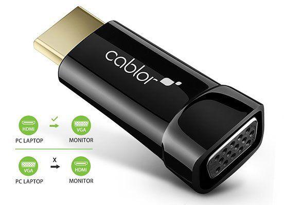 Cablor Gold Plated 1080P HDMI zu VGA Adapter für 2,04€