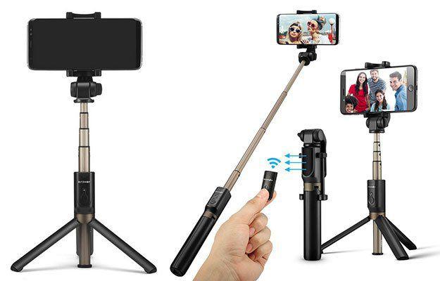 BlitzWolf BW BS3   Selfie Stick & Monopod in Einem für 13,10€ (statt 19€)