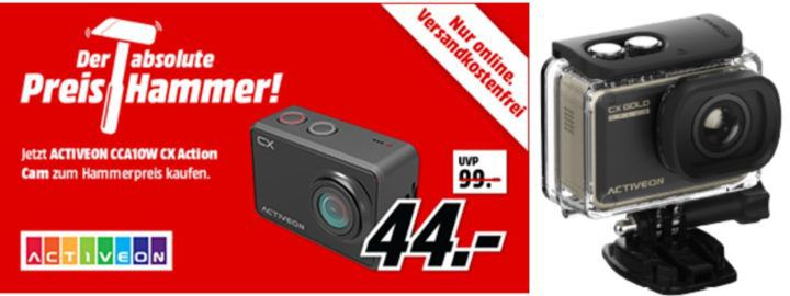 MM Preishammer: ACTIVEON Action Cams ab 44€