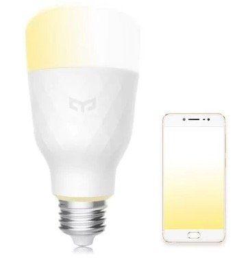 Yeelight Smart LED Lampe E27 weiß (dimmbar) für 16,41€