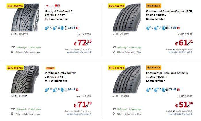 A.T.U.: Rabatt auf Reifen   abhängig von der Größe (20 Zoll = 20%)