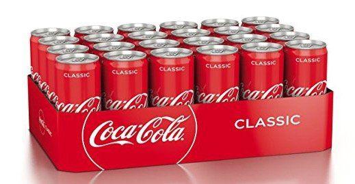 24 Dosen je 330ml Coca Cola für 9,99€ zzgl. 6€ Pfand   nur Prime