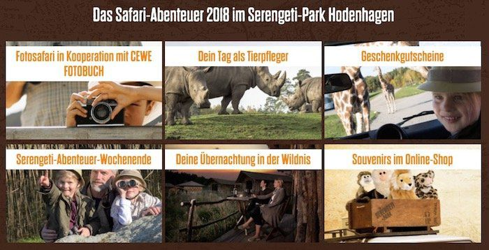 Gratis Kinder Ticket (3 bis 12 Jahre) für den Serengeti Park (Wert 27€)