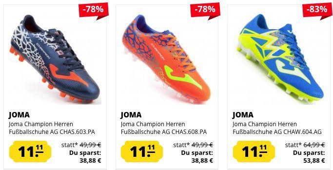 Joma Herren Fußballschuhe für je 11,11€zzgl. VSK