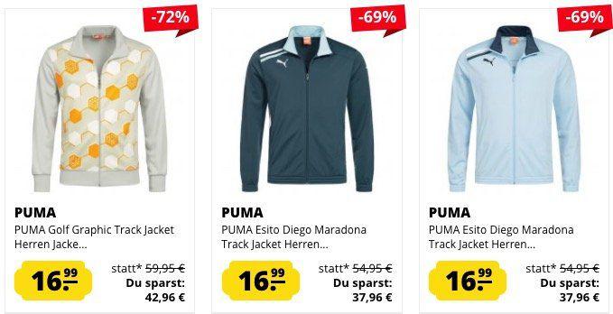 Puma (Sport) Jacken ab 16,99€ bei SportSpar