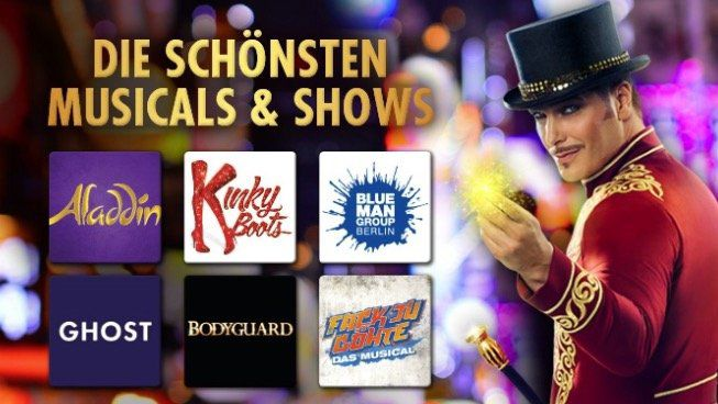 Stage Entertainment: 50€ Musical Gutschein für nur 5€ (anrechenbar auf 2 Tickets)