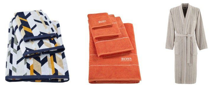Hugo Boss Home Sale mit Bettwäsche, Badwäsche und Decken