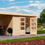 10% Rabatt auf Geräte- und Gartenhäuser – z.B. Karibu Arnis 3 Gartenhaus für 749,94€ (statt 804€)