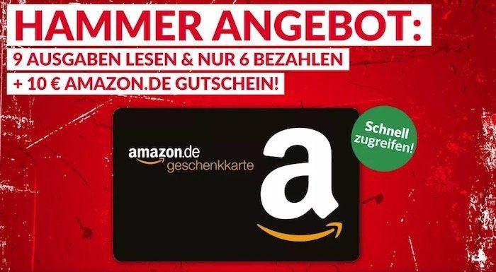 Bild am Sonntag Probeabo mit 9 Ausgaben für 12,90€ + 10€ Amazon Gutschein