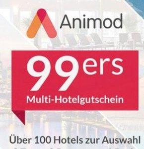 2 ÜN für 2 mit Frühstück in über 100 Animod Hotels für 99,98€