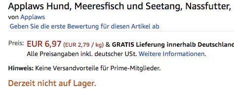 Fehler? 16er Pack je 156g Applaws Hund Meeresfisch und Seetang Nassfutter ab 6,97€ (statt 27€)