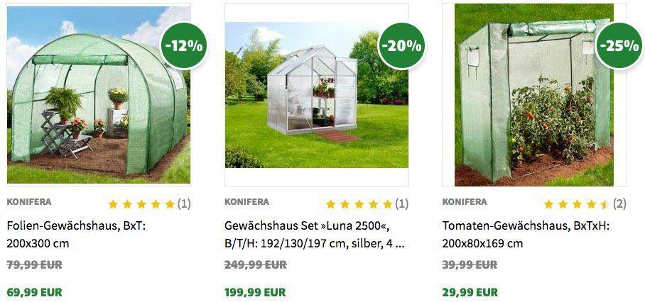 10% Rabatt auf Gewächshäuser bei Hagebau   z.B. Konifera Folien Gewächshaus für 68,94€ (statt 76€)