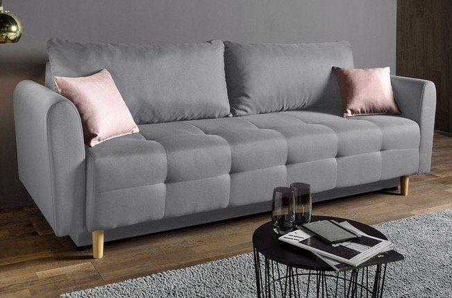 Places of Style Schlafsofa inklusive Bettkasten und Zierkissen für 242,99€ (statt 280€)