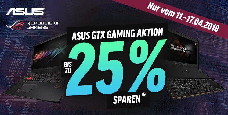 Knaller! Bis zu 25% Rabatt auf Asus Gaming Notebooks