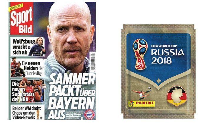 3 Monate Sport Bild für 29,90€ + 50 Tüten Panini Sticker WM 2018 gratis (statt 45€)