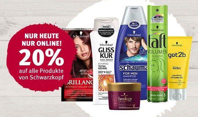 Rossmann: 20% Rabatt auf alle Schwarzkopf Produkte   nur online!