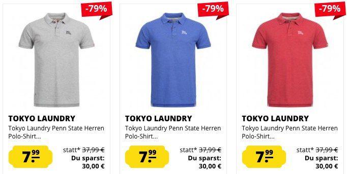 Tokyo Laundry Sale bei SportSpar   z.B. Poloshirts ab 7,99€