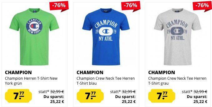 Champion T Shirts für je 7,77€ zzgl. VSK