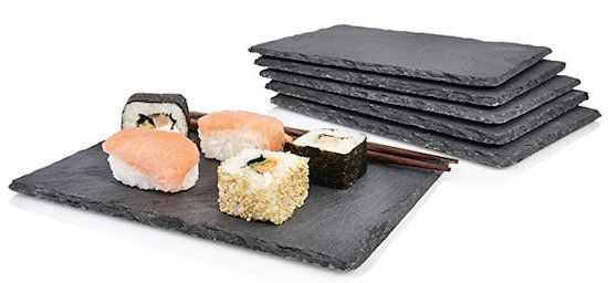 6er Set Sänger Schieferplatten Sushi 22 x 16cm für 12,99€ (statt 18€)