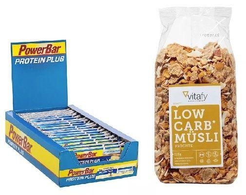 30er Pack Protein Plus Riegel (Vanilla) + 525g Vitafy Müsli für nur 17,39€ (statt 29€)