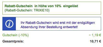 Gutscheinfehler: 10% Rabatt auf ALLES beim Futterplatz + VSK frei ab 29€