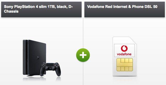 Vodafone Red Internet & Phone DSL 50 für 24€ mtl. + PS4 slim für 4,95€ + FRITZ!Box 7430 mietfrei für die ersten 24 Monate