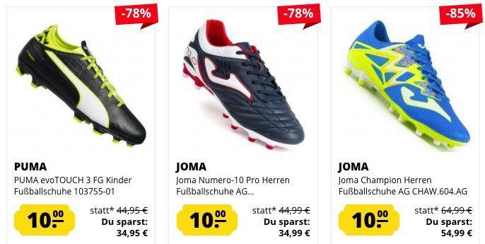 Schuh Wahnsinn: 10€ pro Sneaker und Fußballschuh bei SportSpar