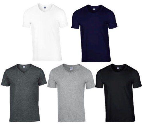 6er Pack Gildan T Shirts im Softstyle mit V Ausschnitt für 18,95€ (statt 23€)